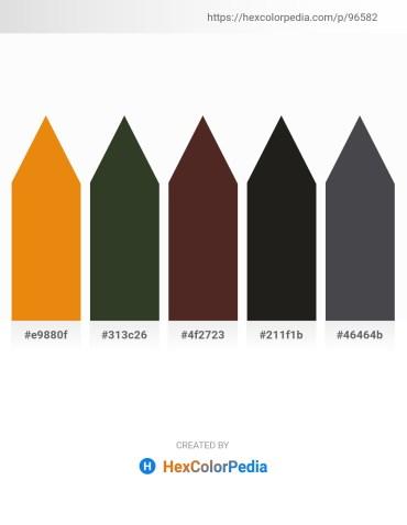 Palette image download - Dark Orange – Dark Olive Green – Goldenrod – Black – Dark Slate Gray
