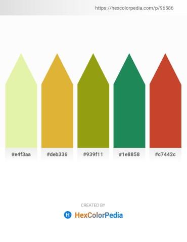 Palette image download - Pale Goldenrod – Goldenrod – Dark Goldenrod – Sea Green – Firebrick