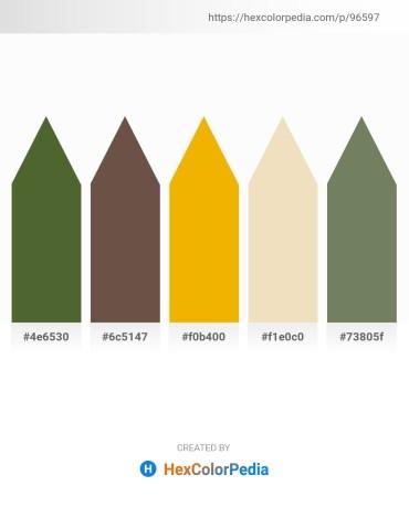 Palette image download - Dark Olive Green – Dim Gray – Orange – Pale Goldenrod – Dim Gray