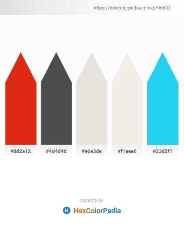 Palette image download - Crimson – Dim Gray – Gainsboro – Beige – Deep Sky Blue
