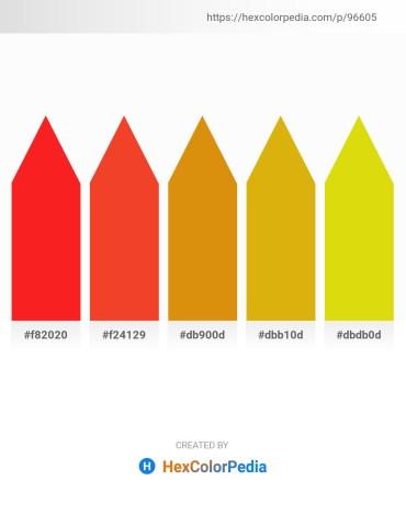 Palette image download - Red – Orange Red – Dark Goldenrod – Goldenrod – Gold