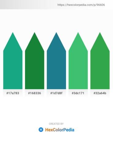 Palette image download - Light Sea Green – Forest Green – Midnight Blue – Medium Sea Green – Sea Green