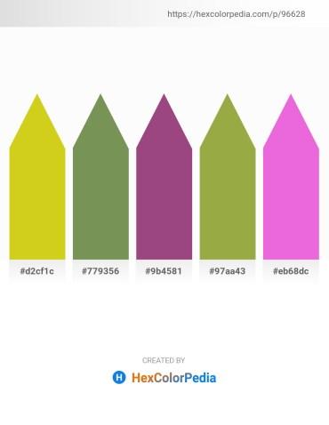 Palette image download - Goldenrod – Dark Olive Green – Dim Gray – Dark Khaki – Violet
