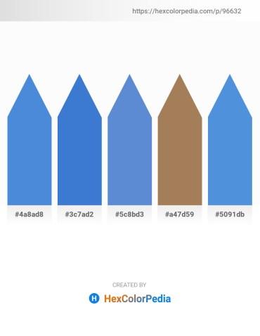 Palette image download - Royal Blue – Royal Blue – Slate Blue – Dark Slate Gray – Royal Blue