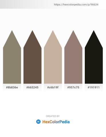 Palette image download - Gray – Dim Gray – Rosy Brown – Gray – Black