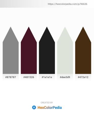 Palette image download - Gray – Gray – Black – Gainsboro – Saddle Brown