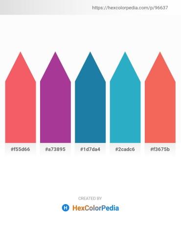 Palette image download - Salmon – Firebrick – Orange – Light Sea Green – Salmon