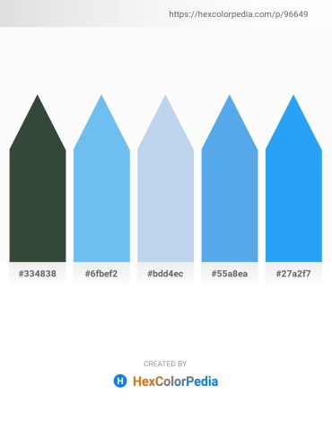Palette image download - Dark Slate Gray – Light Sky Blue – Light Blue – Cornflower Blue – Dodger Blue