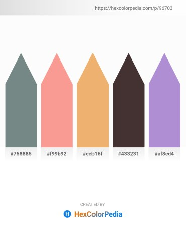 Palette image download - Slate Gray – Salmon – Sandy Brown – Dark Olive Green – Medium Purple