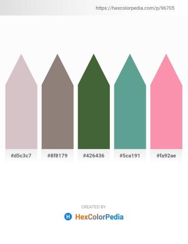 Palette image download - Thistle – Gray – Dark Olive Green – Cadet Blue – Hot Pink