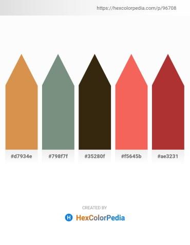 Palette image download - Peru – Slate Gray – Gray – Salmon – Brown