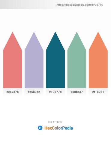 Palette image download - Dark Salmon – Light Steel Blue – Teal – Dark Sea Green – Sandy Brown