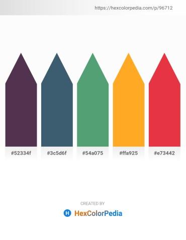 Palette image download - Saddle Brown – Dark Slate Gray – Cadet Blue – Orange – Crimson