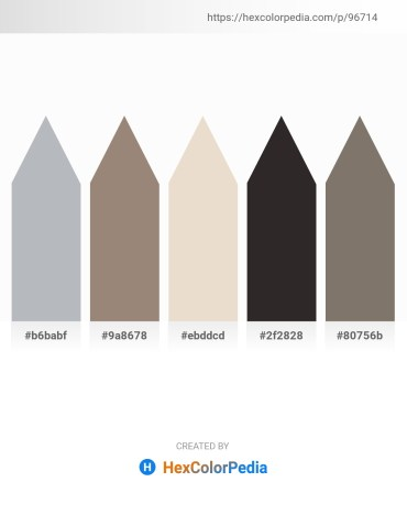 Palette image download - Light Slate Gray – Gray – Beige – Black – Gray