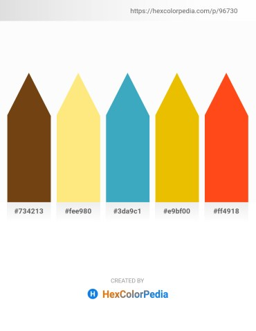 Palette image download - Saddle Brown – Navajo White – Steel Blue – Gold – Orange Red