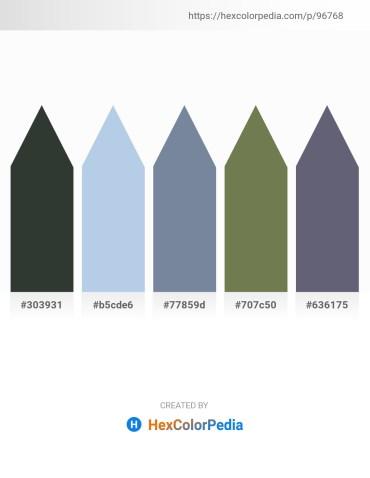 Palette image download - Dark Slate Gray – Light Blue – Light Slate Gray – Dark Olive Green – Slate Gray