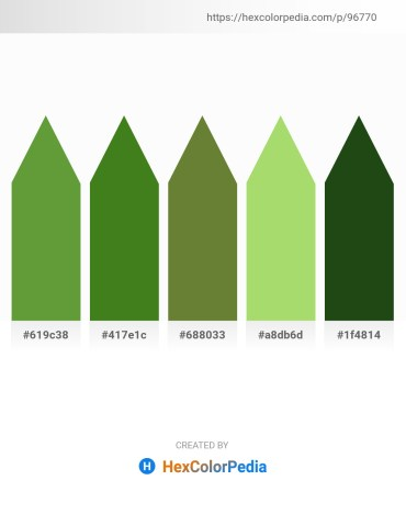 Palette image download - Olive Drab – Forest Green – Dark Olive Green – Yellow Green – Lemon Chiffon