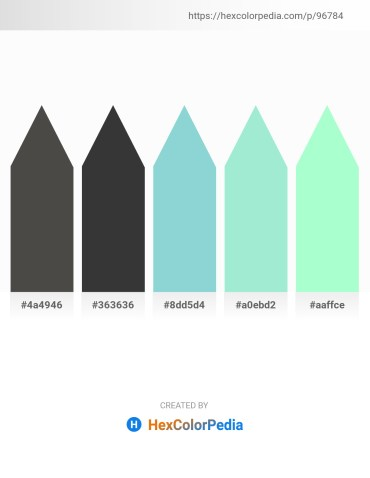 Palette image download - Dim Gray – Dim Gray – Light Blue – Pale Turquoise – Aquamarine