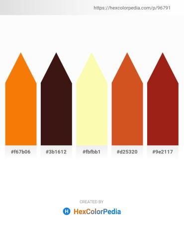 Palette image download - Dark Orange – Gray – Moccasin – Chocolate – Firebrick