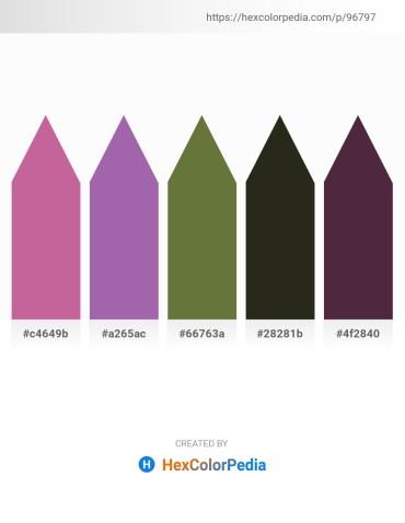 Palette image download - Pale Violet Red – Light Slate Gray – Dark Olive Green – Black – Medium Violet Red