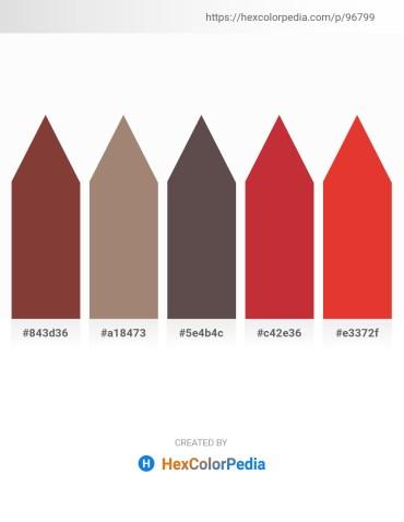 Palette image download - Sienna – Rosy Brown – Dim Gray – Firebrick – Crimson