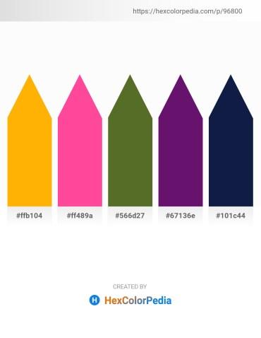Palette image download - Orange – Hot Pink – Dark Olive Green – Midnight Blue – Midnight Blue