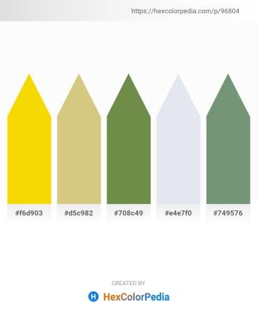 Palette image download - Gold – Tan – Dark Olive Green – Light Steel Blue – Dark Sea Green