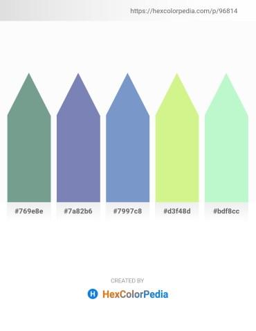 Palette image download - Cadet Blue – Light Slate Gray – Steel Blue – Khaki – Pale Green