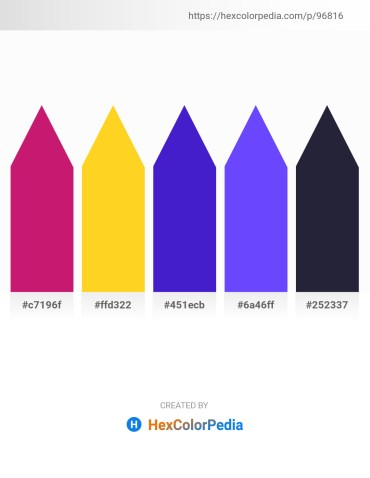 Palette image download - Medium Violet Red – Gold – Blue Violet – Medium Slate Blue – Light Steel Blue