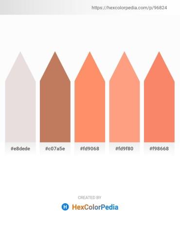 Palette image download - Gainsboro – Indian Red – Salmon – Light Salmon – Salmon