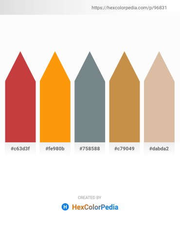Palette image download - Indian Red – Dark Orange – Slate Gray – Peru – Tan