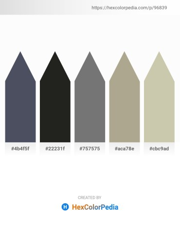 Palette image download - Dark Slate Gray – Black – Gray – Light Slate Gray – Tan