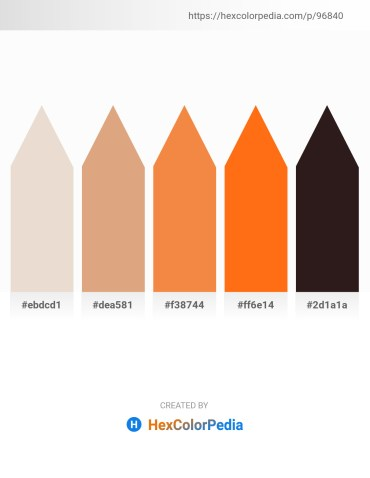 Palette image download - Beige – Burlywood – Sandy Brown – Dark Orange – Black