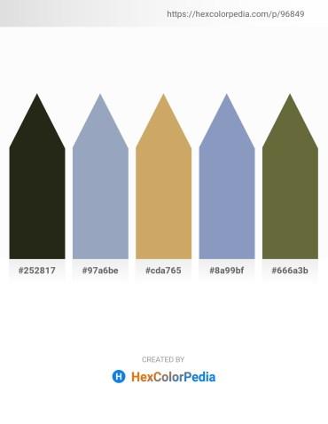 Palette image download - Royal Blue – Light Slate Gray – Dark Khaki – Light Slate Gray – Dark Olive Green