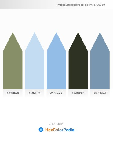 Palette image download - Gray – Pale Turquoise – Sky Blue – Dark Olive Green – Cadet Blue