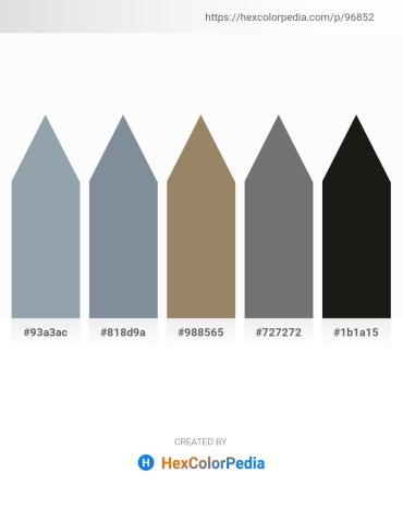Palette image download - Light Slate Gray – Light Slate Gray – Dark Sea Green – Dim Gray – Black
