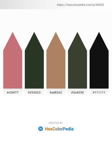 Palette image download - Indian Red – Dark Slate Gray – Dark Salmon – Dark Olive Green – Black