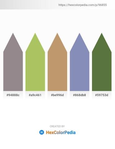 Palette image download - Gray – Dark Khaki – Dark Khaki – Light Slate Gray – Dark Olive Green