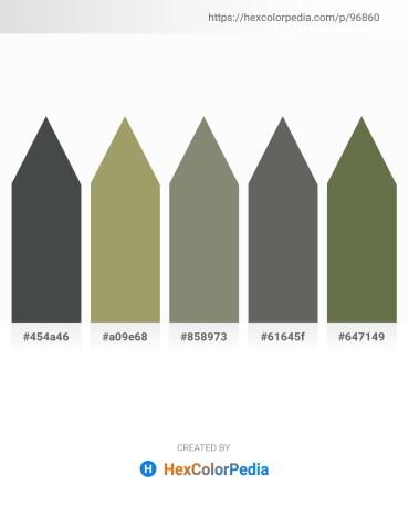 Palette image download - Dark Slate Gray – Dark Khaki – Gray – Dim Gray – Dark Olive Green