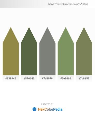 Palette image download - Dark Olive Green – Dark Olive Green – Gray – Dark Sea Green – Dark Olive Green