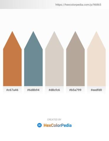 Palette image download - Peru – Slate Gray – Light Gray – Rosy Brown – Beige