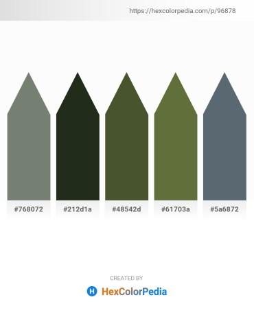 Palette image download - Gray – Dark Slate Gray – Dark Olive Green – Dark Olive Green – Slate Gray