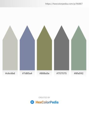 Palette image download - Silver – Light Slate Gray – Gray – Gray – Dark Sea Green