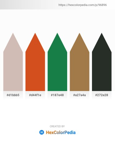Palette image download - Rosy Brown – Chocolate – Forest Green – Sienna – Dark Slate Gray