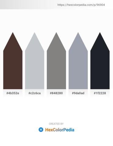 Palette image download - Saddle Brown – Light Steel Blue – Gray – Light Slate Gray – Dark Slate Gray