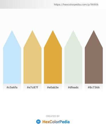 Palette image download - Light Cyan – Burlywood – Goldenrod – Beige – Gray