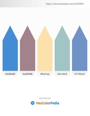 Palette image download - Royal Blue – Rosy Brown – Navajo White – Light Steel Blue – Steel Blue