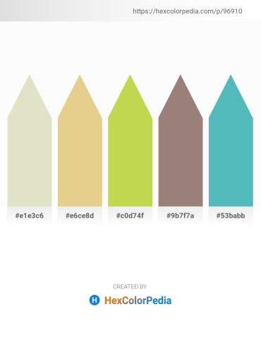 Palette image download - Beige – Burlywood – Yellow Green – Gray – Medium Aquamarine