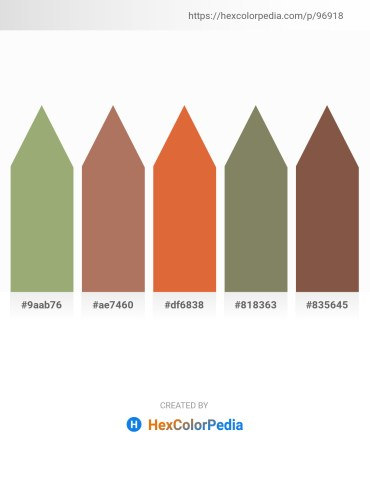 Palette image download - Dark Sea Green – Rosy Brown – Chocolate – Gray – Black