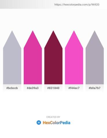 Palette image download - Light Steel Blue – Medium Violet Red – Brown – Hot Pink – Light Slate Gray